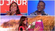 Aaron surprend Livia pour son anniversaire avec une chanson et un magnifique bouquet de fleurs