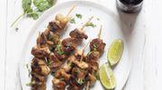 Recette : Brochettes de poulet marinées à la bière et au miel