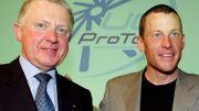 Hein Verbruggen photographié à côté de Lance Armstrong. Les relations entre l'Américian et l'UCI posent beaucoup de questions.
