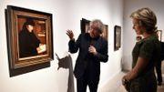 """La Reine Mathilde visite l'exposition """"A la recherche d'Utopia"""" à Louvain"""