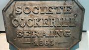 Enseigne de la société Cockerill au début du 20ème siècle