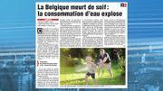La Belgique meurt de soif : consommation d'eau explose