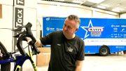 Au service-course de Circus-Wanty Gobert, les vélos dorment… et pour longtemps !