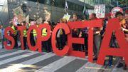 Environ 9000 manifestants contre le TTIP et le CETA
