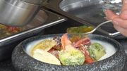 Salade de tomates et baby homard