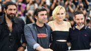 Numan Acar, le réalisateur Fatih Akin, Diane Kruger et Denis Moschitto