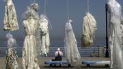 """A Beyrouth, des robes de mariée pour dire """"non"""" à une loi sur le viol"""