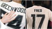 La différence de typographie entre le maillot de Greenwood et celui de Fred