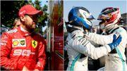 Réel choc pour Hamilton, surprise et déception pour Vettel