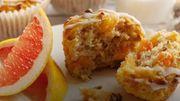 Recette : muffins au pamplemousse de Floride et aux noix