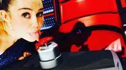 Miley Cyrus au casting de la 10e saison de The Voice sur NBC