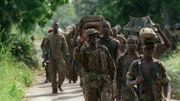 Soldats AFDL avançant sur Kinshasa en 1997
