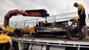 """Le premier gros crash de la saison pour Palmer, """"déçu pour Renault"""""""