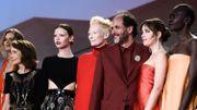 "Le casting de ""Suspiria"" : Fabrizia Sacchi, Jessica Harper, Mia Goth, Tilda Swinton, le réalisateur Luca Guadagnino, Dakota Johnson et Alek Wek"