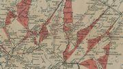 """Détail de la """"Carta dell'Italia del Nord e Francia del Sud Est"""", représentant le Nord de Florence avec aperçu de profils des routes """"strassenprofilkarte"""""""