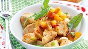 Recette : blanc de poulet rôti et chutney de pêches jaunes