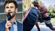 """Chris Hemsworth développe une musculature plus impressionnante que jamais pour le prochain film """"Thor"""""""