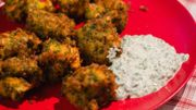 Florida blue crab fritters et key lime pie