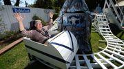 Un ancien ingénieur chez Boeing a créé un parc d'attractions dans son jardin!