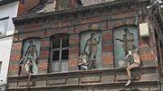 L'œuvre de Levalet, rue de la Halle