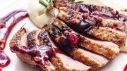 Recette de Candice : Magret de canard sauce aux framboises
