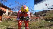 Un skieur monégasque revit une descente de Coupe du monde dans son jardin