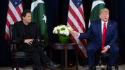 Le Premier ministre pakistanais et Donald Trump en marge de l'Assemblée générale de l'ONU le 23 septembre 2019