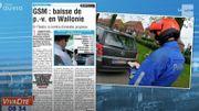 GSM au volant... P-V en chute libre en Wallonie !