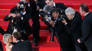 """Sur les marches du festival de Cannes en 2009 avec laeticia pour promouvoir le film """"Vengeance"""""""