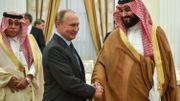 Vladimir Poutine et le prince héritier saoudien