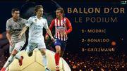Luka Modric lauréat du Ballon d'Or 2018 devant Ronaldo et Griezmann