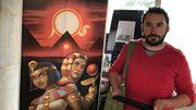Arnaud Quertinmont, le responsable des collections égyptiennes, prêt pour l'aventure virtuelle