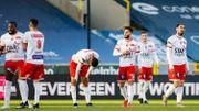 Scénario catastrophe pour Mouscron, l'Excel craque au FC Bruges et est relégué en D1B