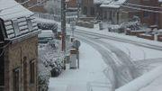 La neige à Courcelles ce mercredi 30 janvier.