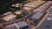 Il reste un vaste espace à construire dans cette zone jouxtant l'aéroport. Alibaba va en occuper (dans un premier temps) 22 hectares