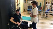 Nigel Bailly est encadré par l'équipe médicale du Grand Hôpital de Charleroi
