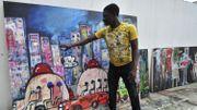 """Côte d'Ivoire: le peintre Aboudia, roi des """"Mogos"""""""