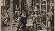 Gravure d'un atelier d'imprimerie