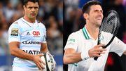 Le rugbyman Dan Carter et Novak Djokovic le tennisman, deux légendes du sport