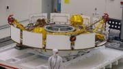 Salle d'assemblage du vaisseau spatial de la mission Mars 2020, au centre spatial de Pasadena, en Californie, le 27 décembre 2019.