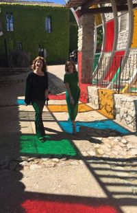 Aux couleurs de Daniel Buren, avec Valérie Bach