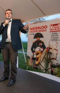 Portrait de Luc Petit, metteur en scène du spectacle d'inauguration Waterloo