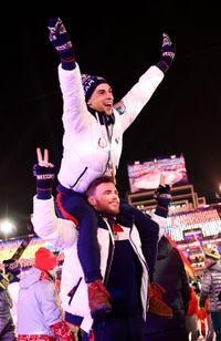 Adam Rippon et Gus Kenworthy aux JO d'hiver 2018 à Pyeongchang
