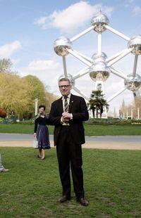 Sur les traces de la mythique Expo 58 ! devant l'Atomium