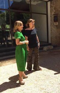 """L'équipe """"C'est du Belge"""" en tournage avec Valérie Bach au domaine de Peyrassol"""