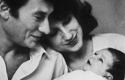 Johnny Hallyday, Nathalie Baye et Laura Smet