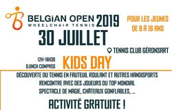 Kids Day Belgian Open Wheelchair tennis 2019