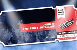 Ticket live The Voice Belgique