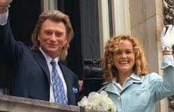 Mariage de Johnny et Laeticia, le 25 mars 1996.