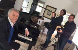 Salvatore Adamo et Jean-Luck Fonck en tournage?